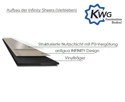 KWG Vinyl Antigua Infinity Country oak Sheets
