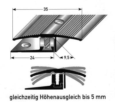 Flex Ubergangsprofil Metall Silber 270cm Laminat Fachmarkt Com