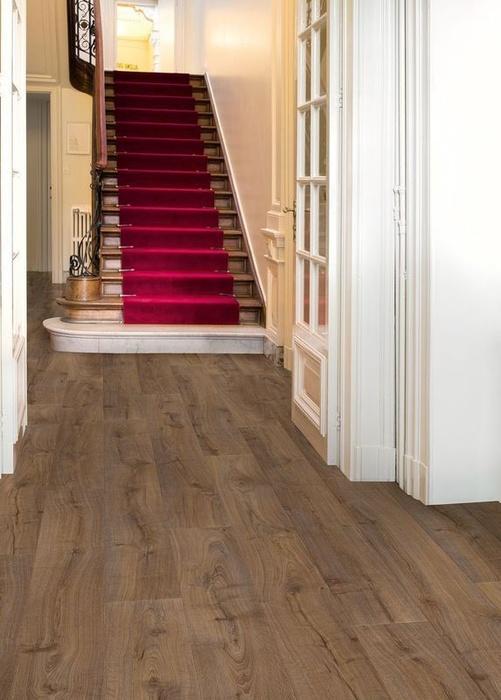 quick step largo cambridge eiche dunkel laminat. Black Bedroom Furniture Sets. Home Design Ideas