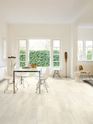 Quick-Step Laminat Creo Eiche Charlotte weiss LHD